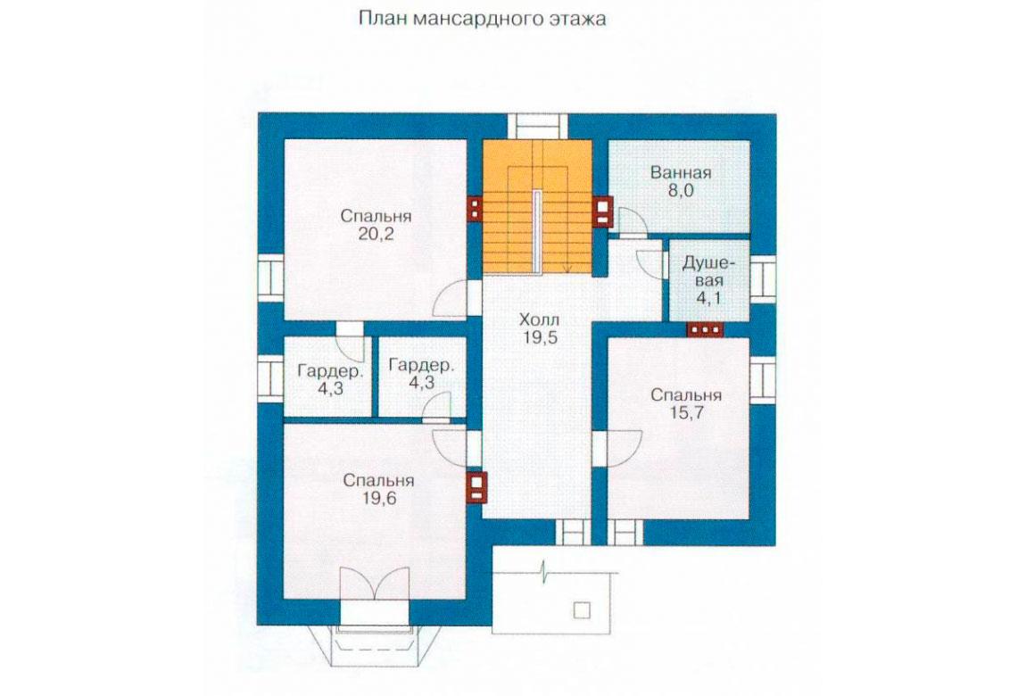 План N1 проекта кирпичного дома АСД-1024