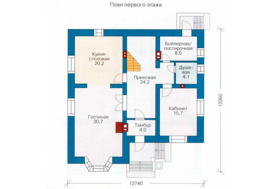 План N2 проекта кирпичного дома АСД-1024