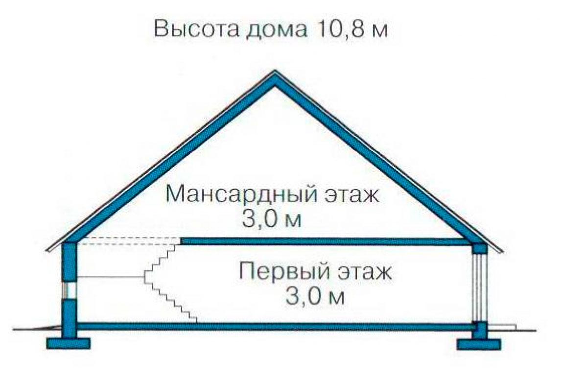 План N3 проекта кирпичного дома АСД-1024