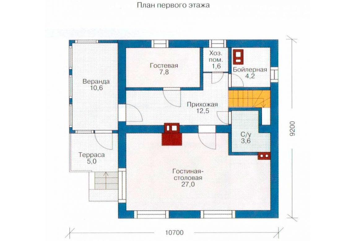 План N1 проекта дома из СИП-панелей АСД-1240