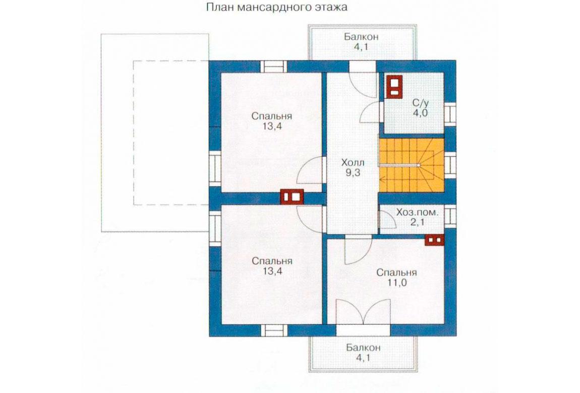 План N2 проекта дома из СИП-панелей АСД-1240