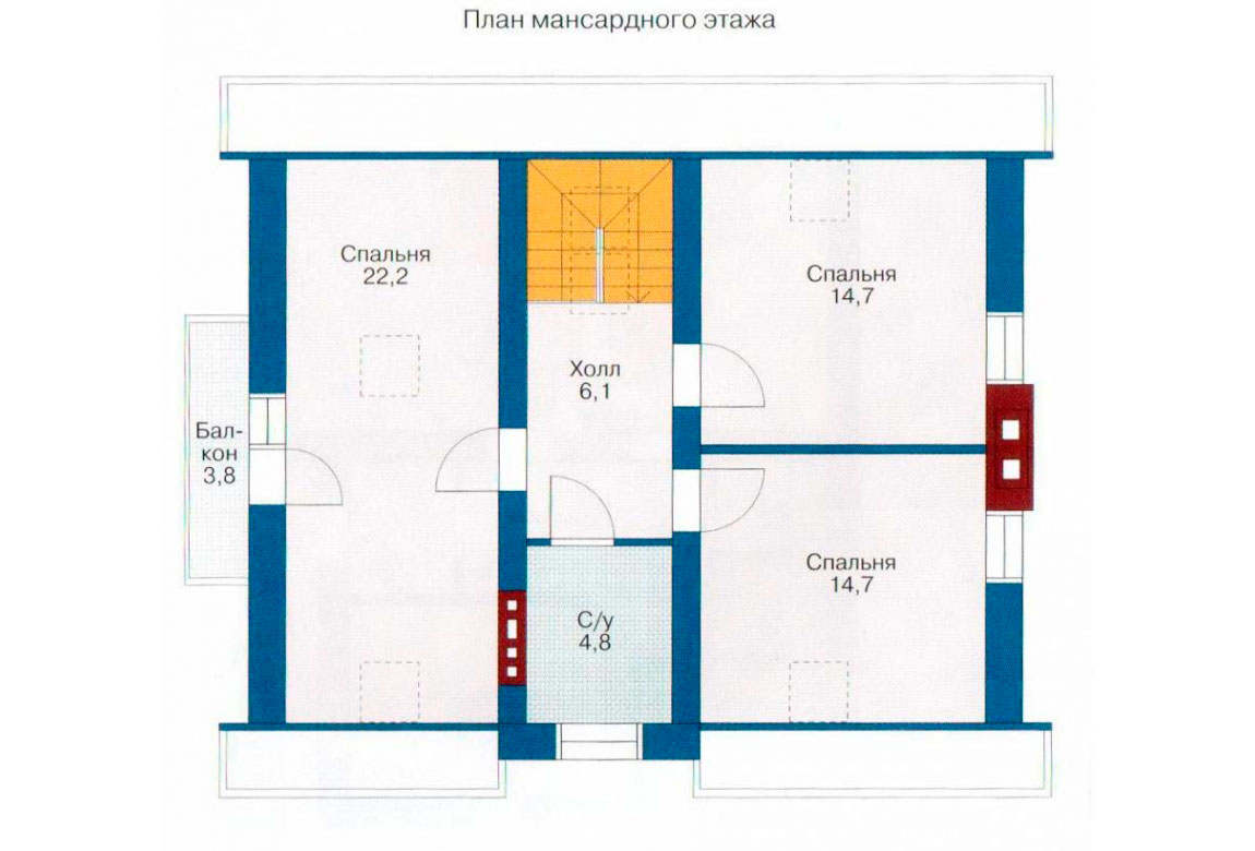 План N1 проекта дома из СИП-панелей АСД-1241