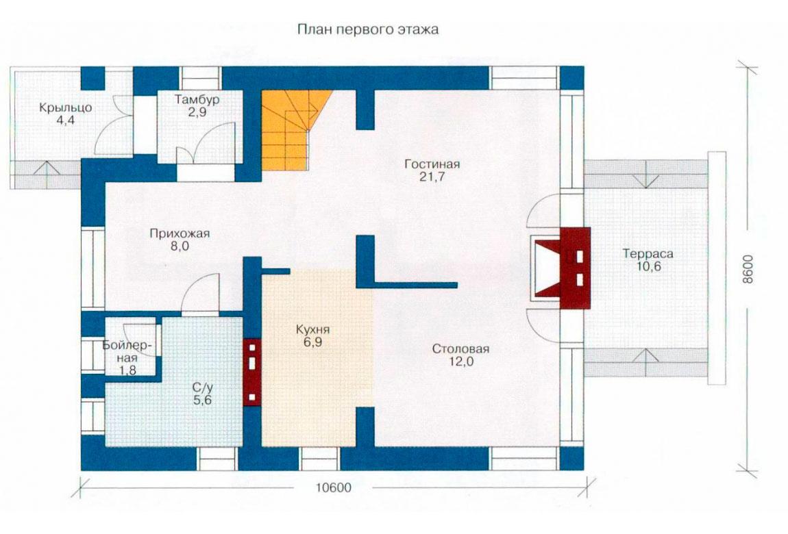 План N2 проекта дома из СИП-панелей АСД-1241