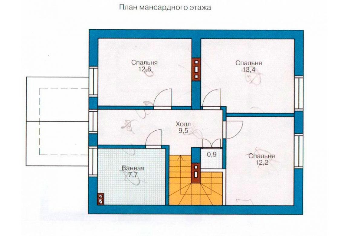 План N1 проекта дома из СИП-панелей АСД-1242