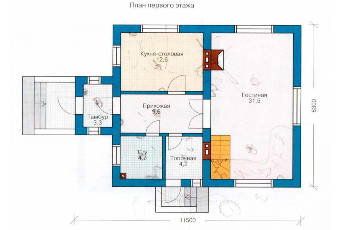 План N2 проекта дома из СИП-панелей АСД-1242