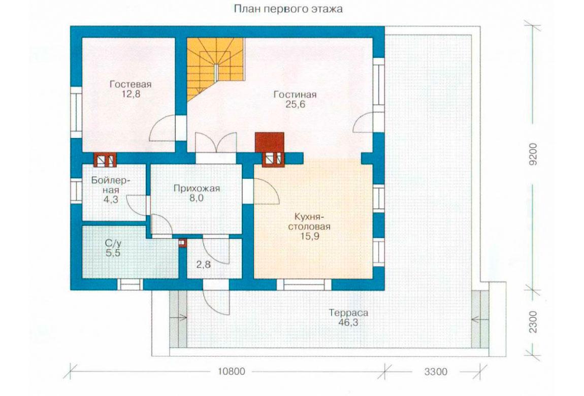 План N1 проекта дома из СИП-панелей АСД-1245