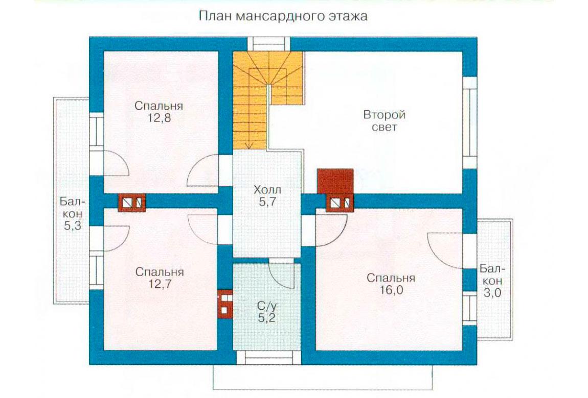 План N2 проекта дома из СИП-панелей АСД-1245
