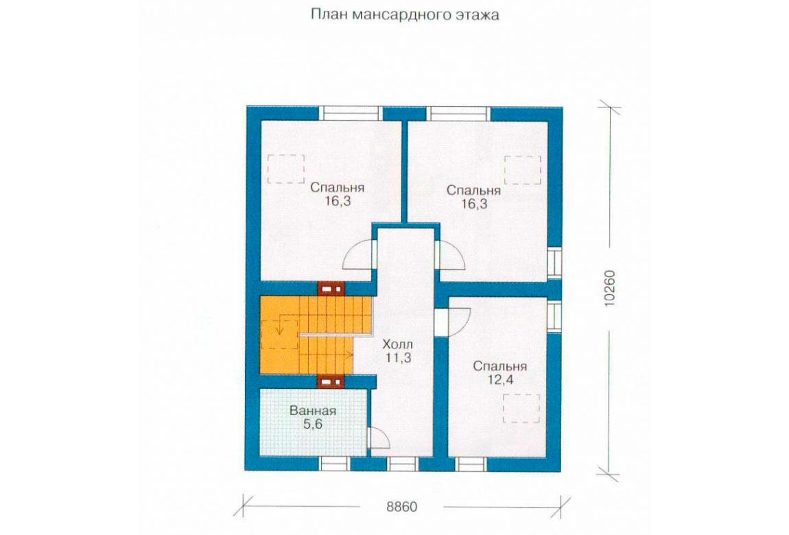 План N1 проекта дома из СИП-панелей АСД-1246