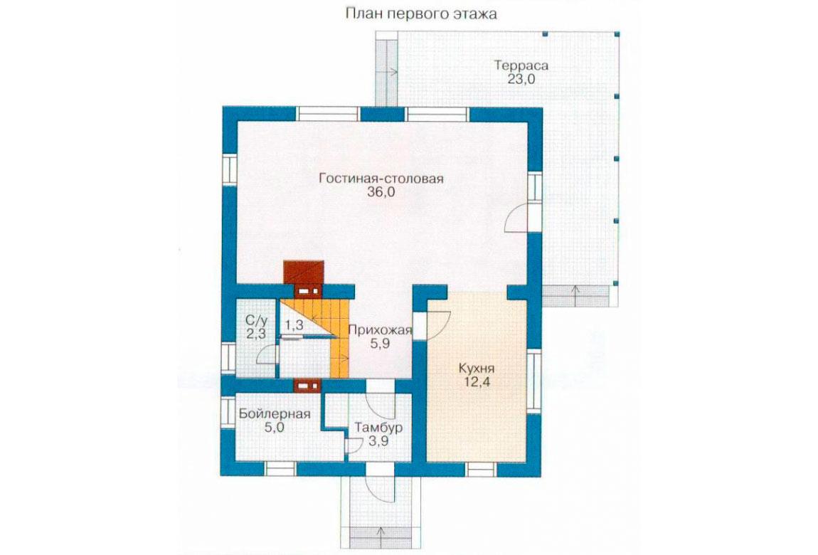 План N2 проекта дома из СИП-панелей АСД-1246