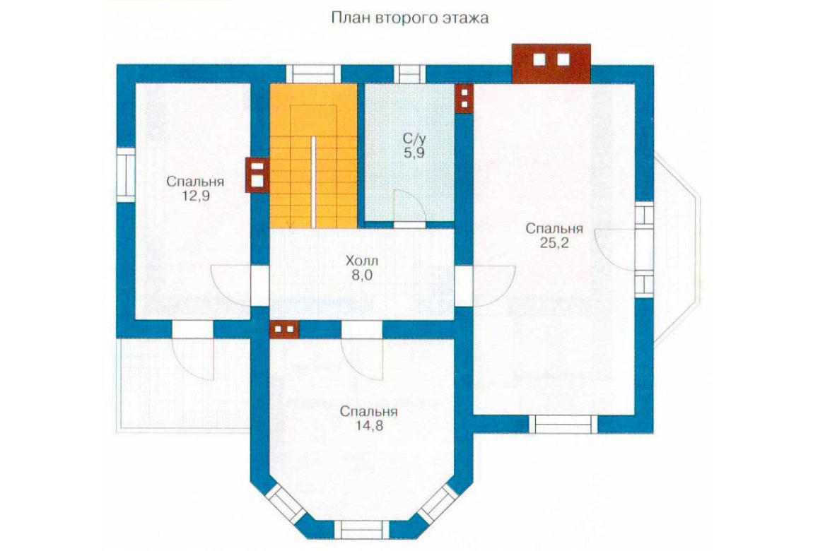 План N1 проекта дома из СИП-панелей АСД-1248