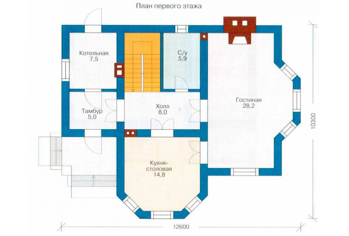 План N2 проекта дома из СИП-панелей АСД-1248