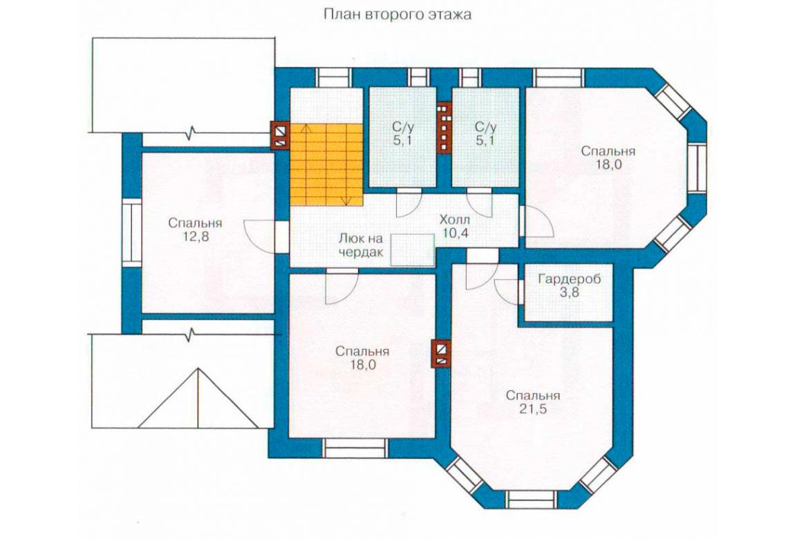 План N2 проекта кирпичного дома АСД-1025