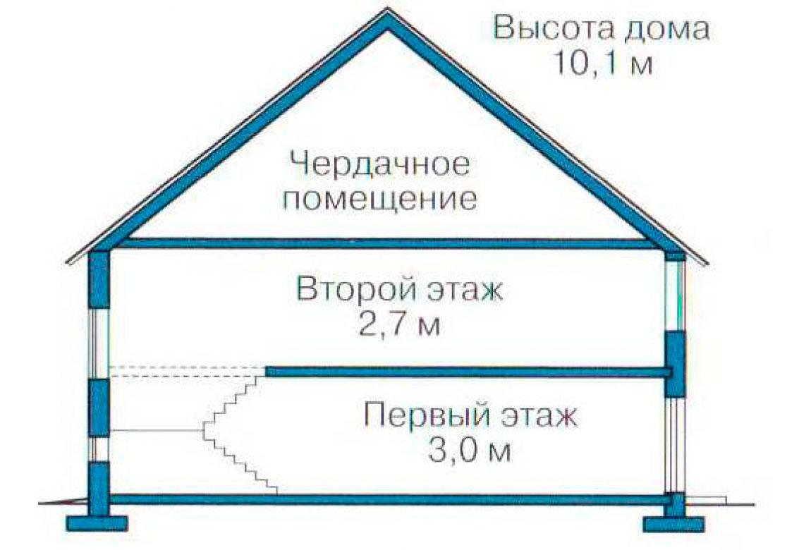 План N3 проекта кирпичного дома АСД-1025
