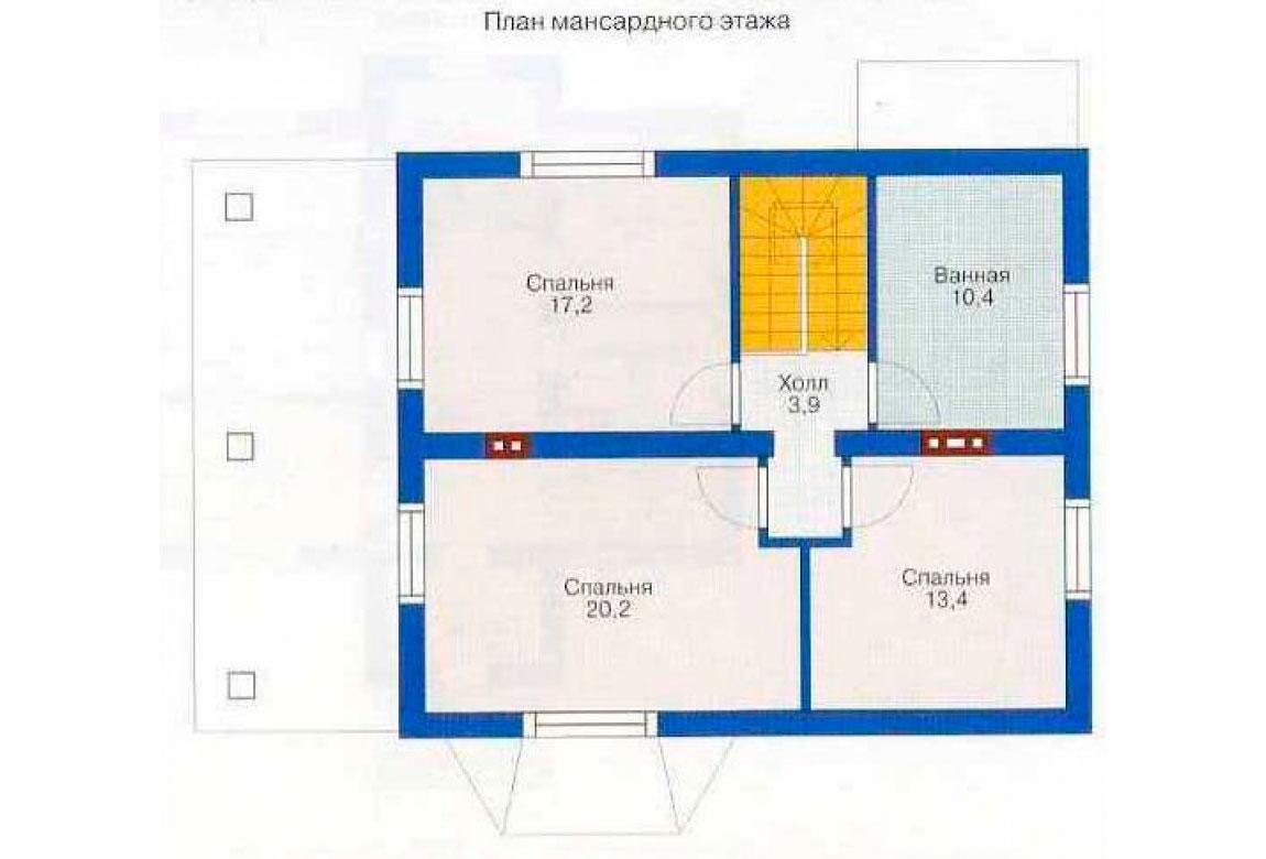 План N1 проекта дома из СИП-панелей АСД-1250