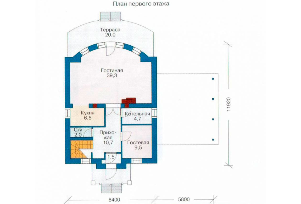 План N1 проекта дома из СИП-панелей АСД-1251