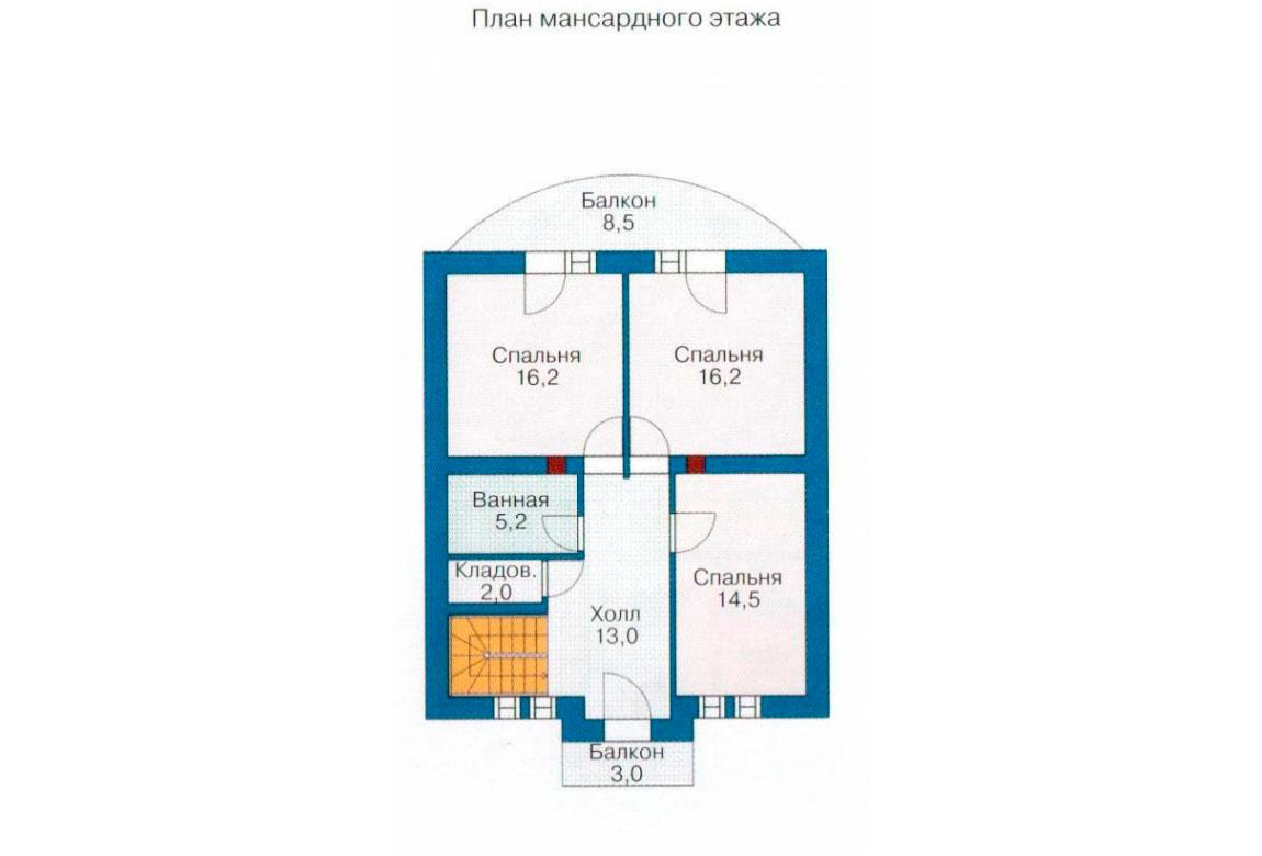 План N2 проекта дома из СИП-панелей АСД-1251