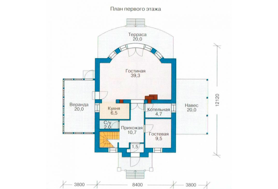 План N2 проекта дома из СИП-панелей АСД-1252
