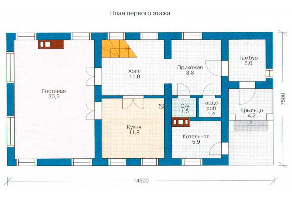 План N2 проекта дома из СИП-панелей АСД-1253