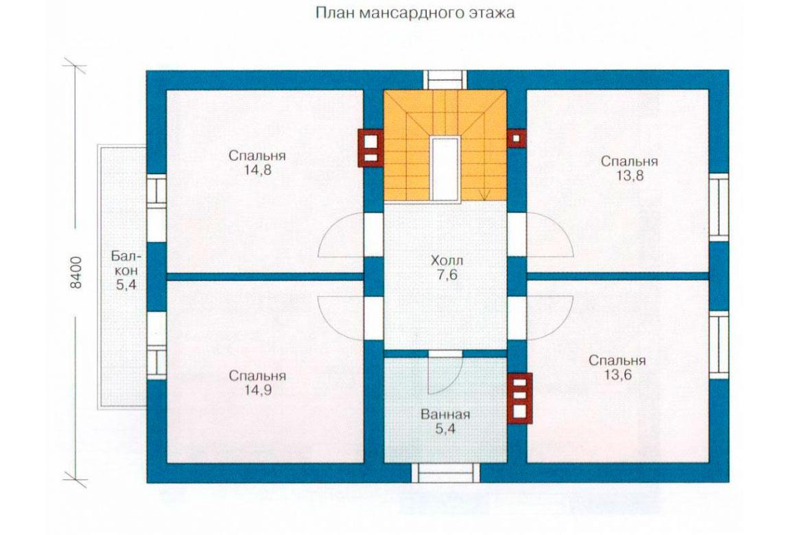 План N2 проекта дома из СИП-панелей АСД-1254