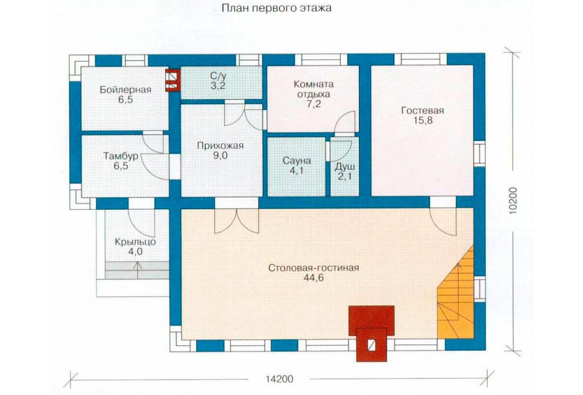 План N1 проекта дома из СИП-панелей АСД-1255