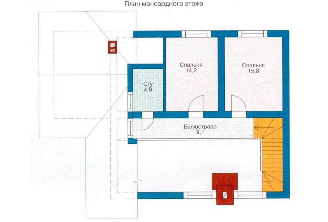 План N2 проекта дома из СИП-панелей АСД-1255