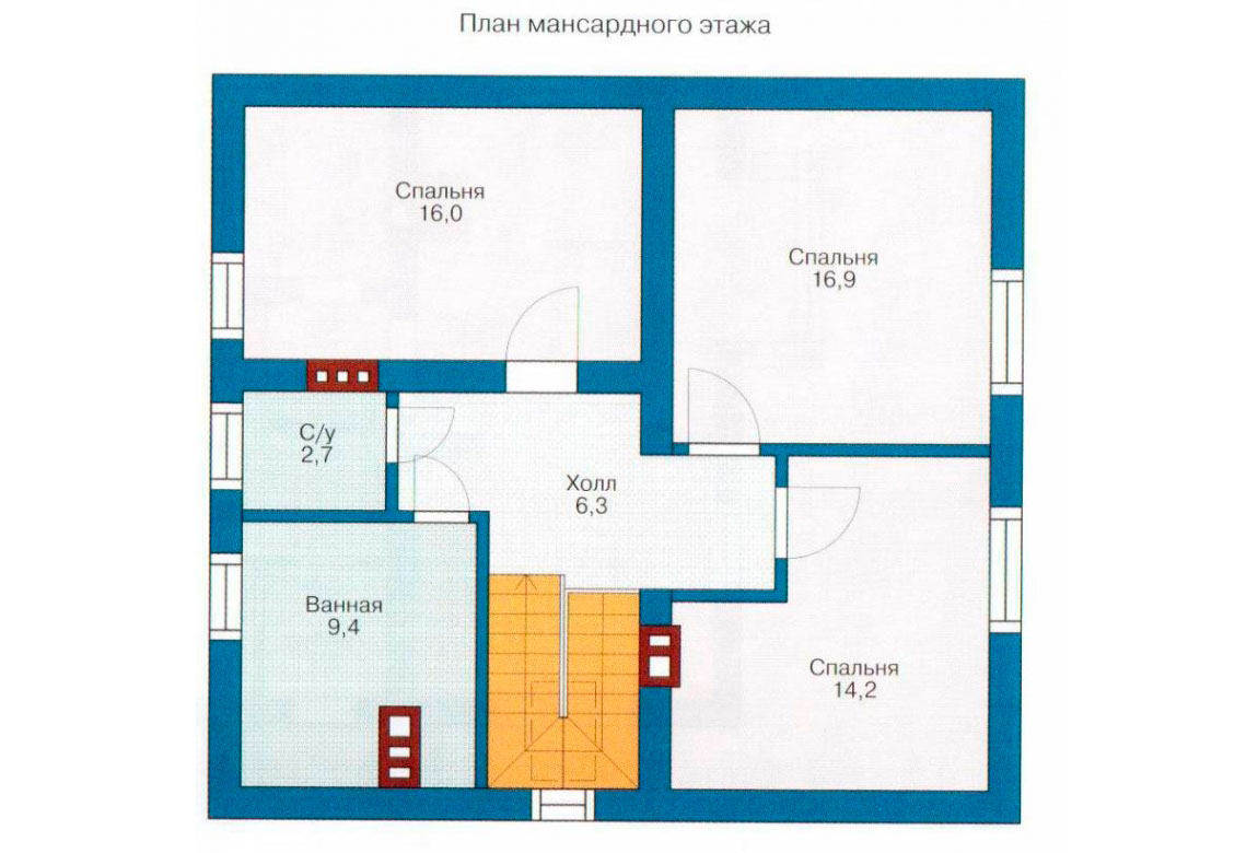 План N1 проекта дома из СИП-панелей АСД-1256
