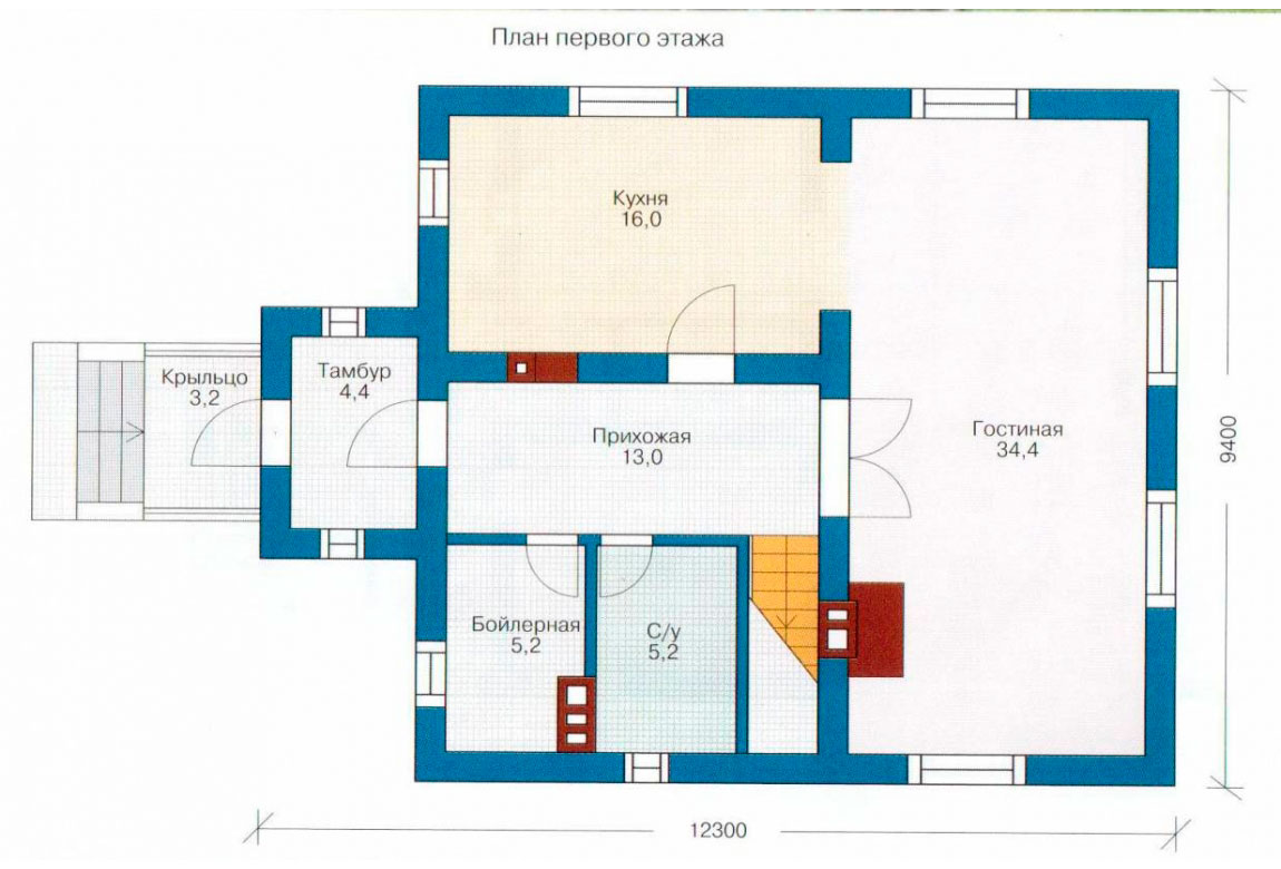 План N2 проекта дома из СИП-панелей АСД-1256