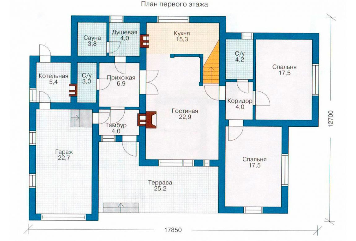 План N2 проекта дома из СИП-панелей АСД-1257