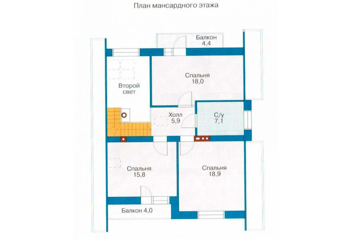 План N1 проекта дома из СИП-панелей АСД-1258