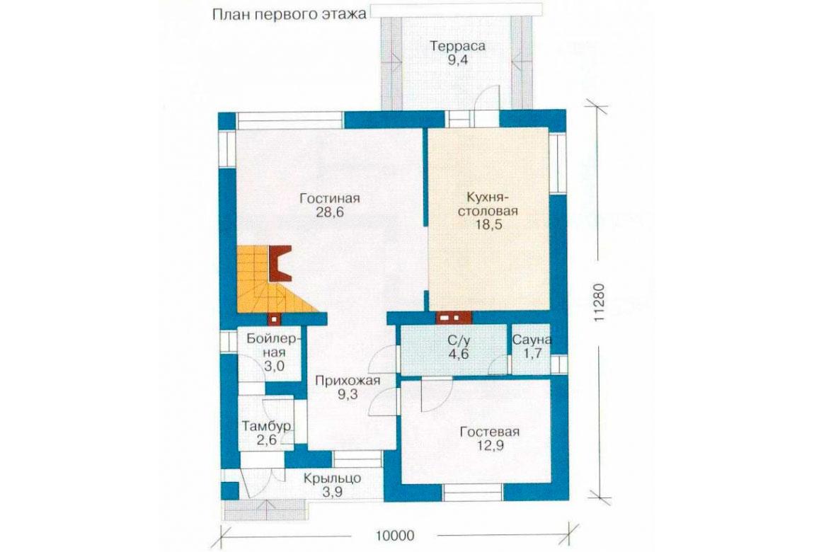 План N2 проекта дома из СИП-панелей АСД-1258