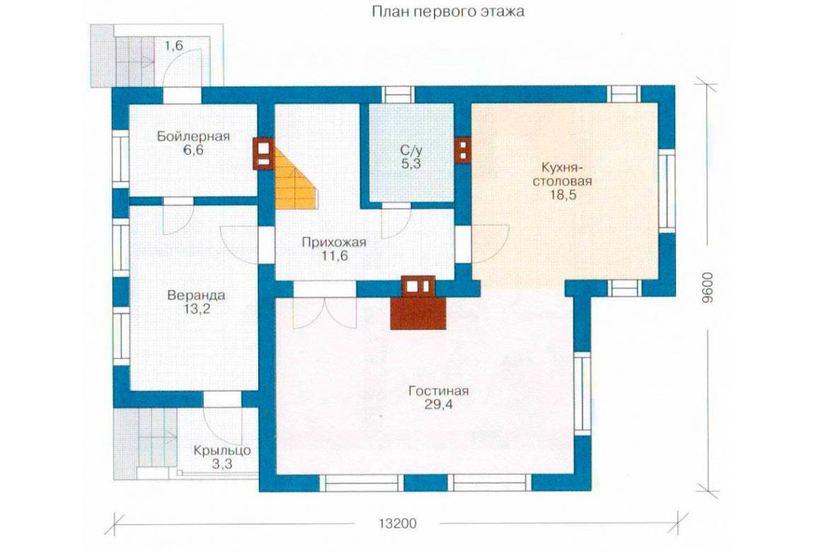 План N1 проекта дома из СИП-панелей АСД-1259