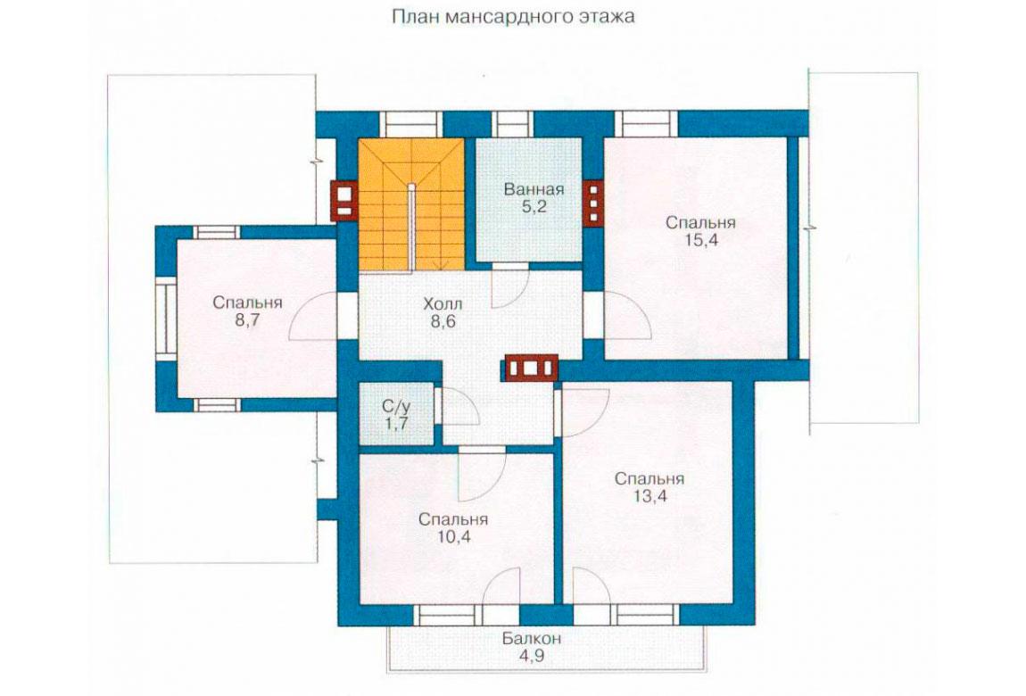 План N2 проекта дома из СИП-панелей АСД-1259
