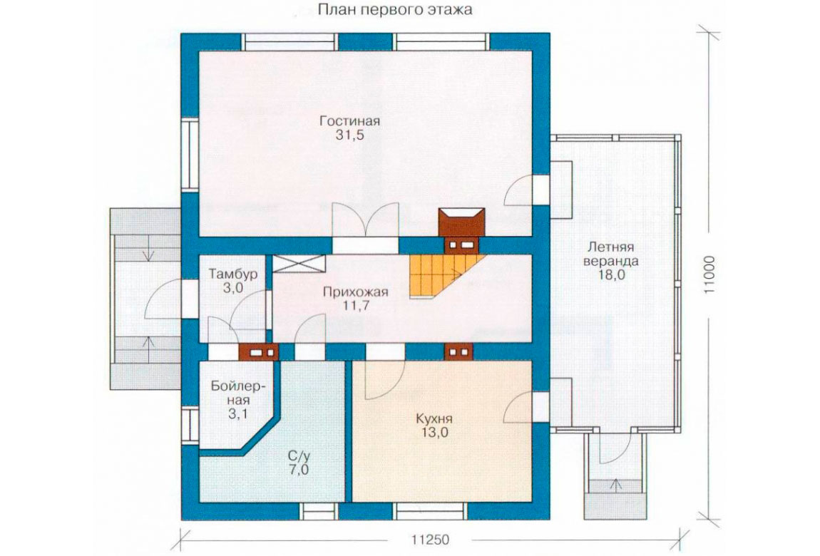 План N1 проекта дома из СИП-панелей АСД-1260