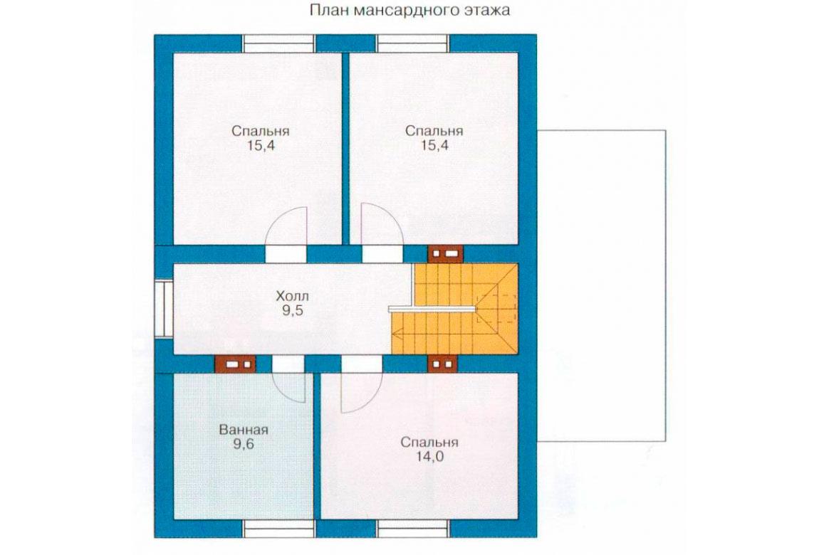 План N2 проекта дома из СИП-панелей АСД-1260