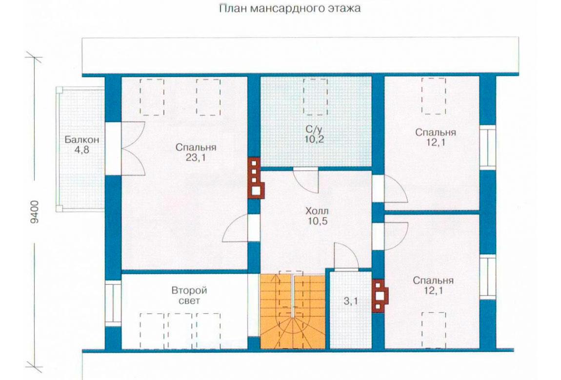 План N1 проекта дома из СИП-панелей АСД-1261
