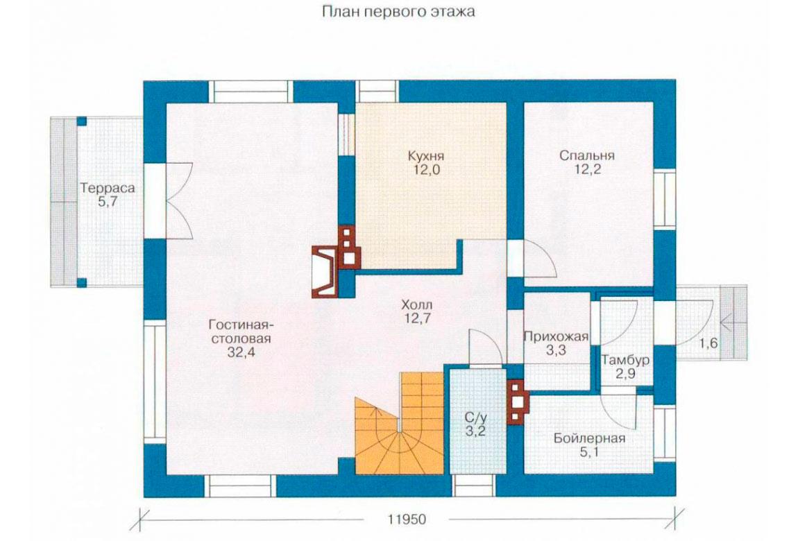 План N2 проекта дома из СИП-панелей АСД-1261