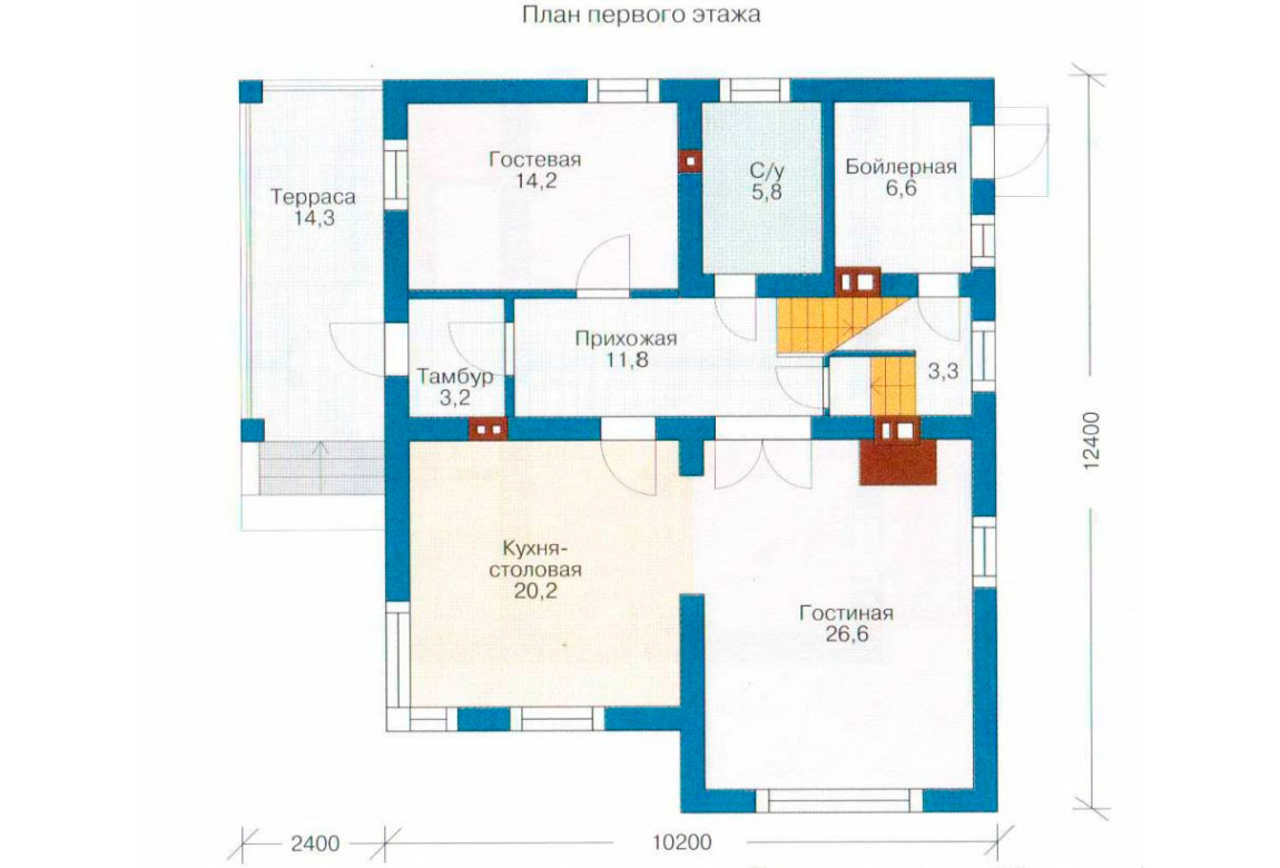 План N1 проекта дома из СИП-панелей АСД-1262
