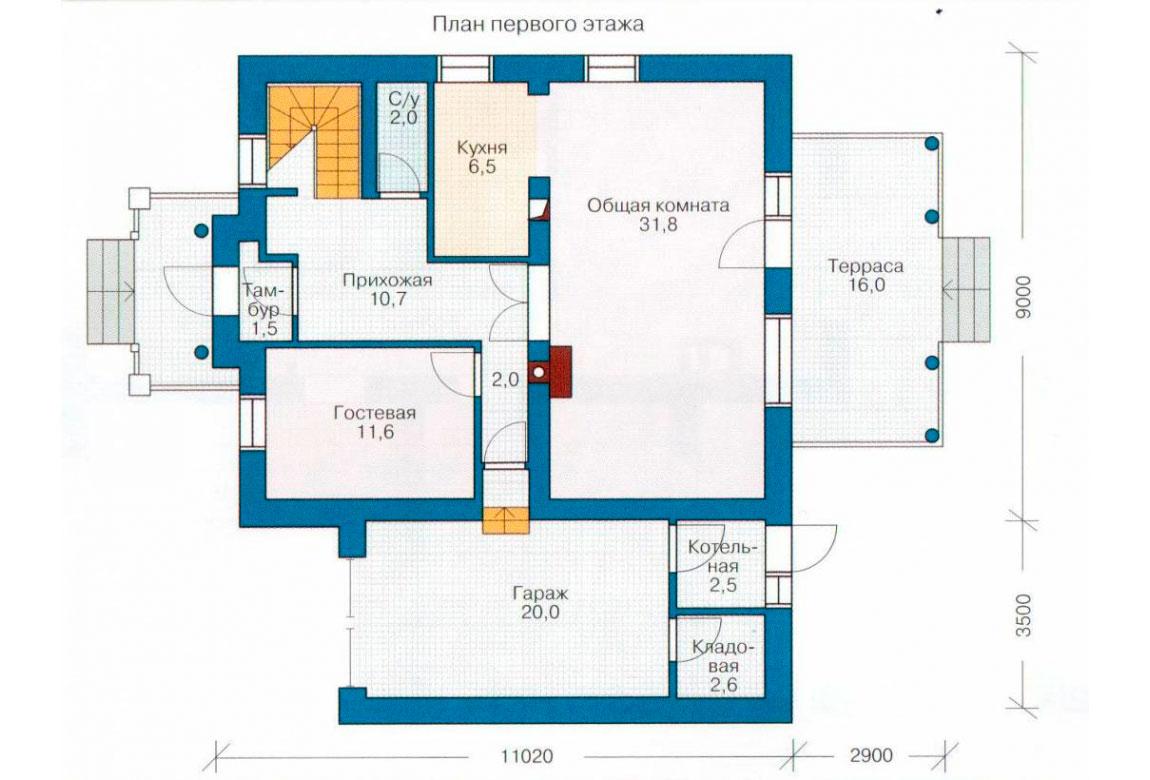 План N2 проекта дома из СИП-панелей АСД-1263