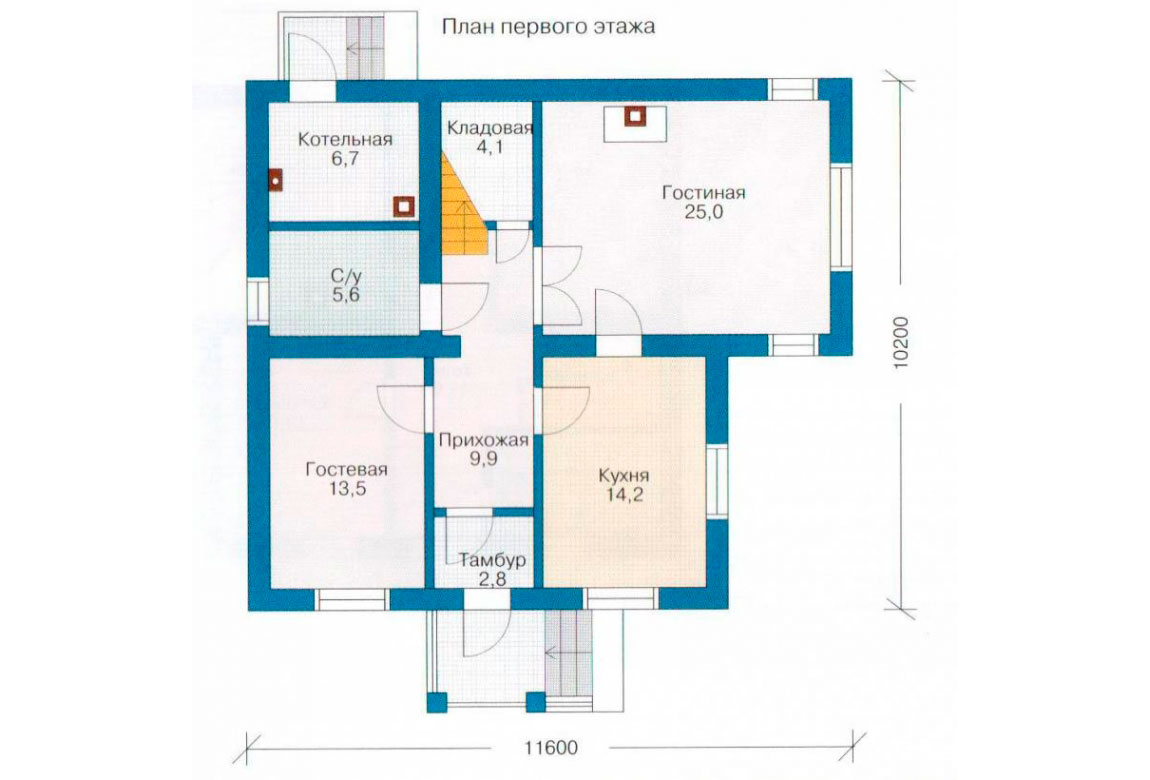 План N1 проекта дома из СИП-панелей АСД-1264