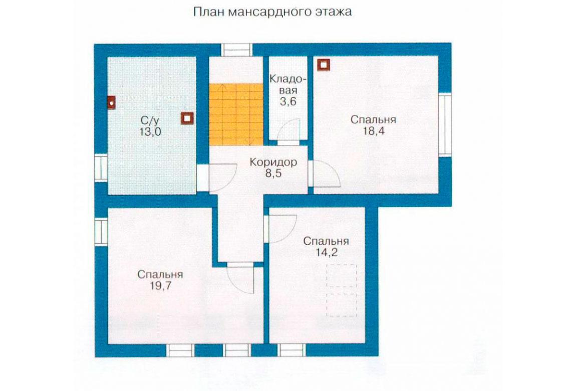 План N2 проекта дома из СИП-панелей АСД-1264