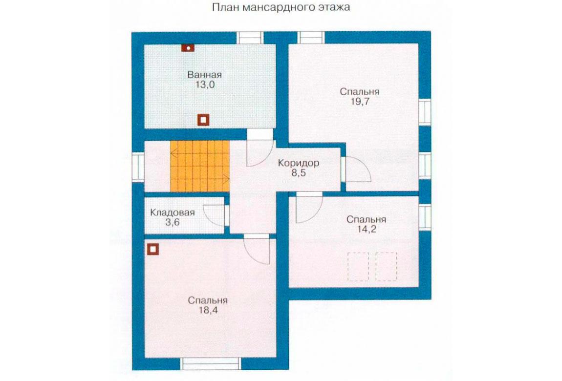 План N2 проекта дома из СИП-панелей АСД-1265