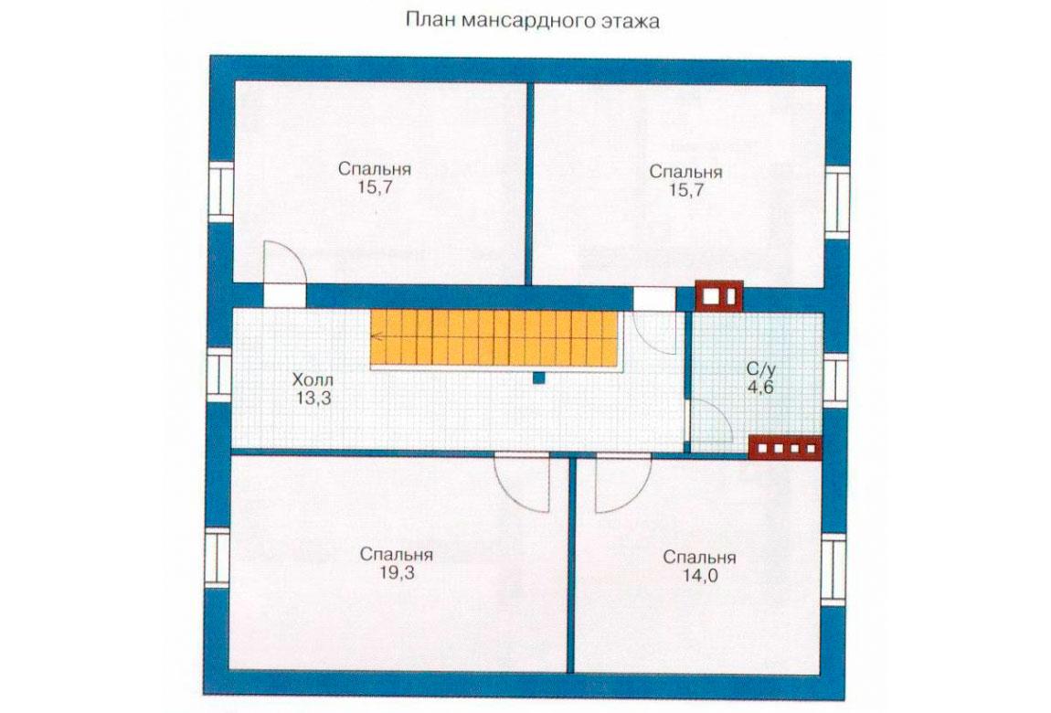 План N1 проекта дома из СИП-панелей АСД-1267