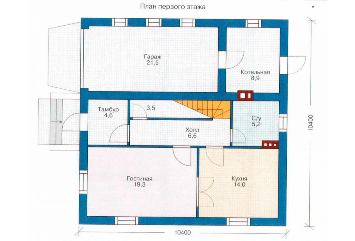 План N2 проекта дома из СИП-панелей АСД-1267
