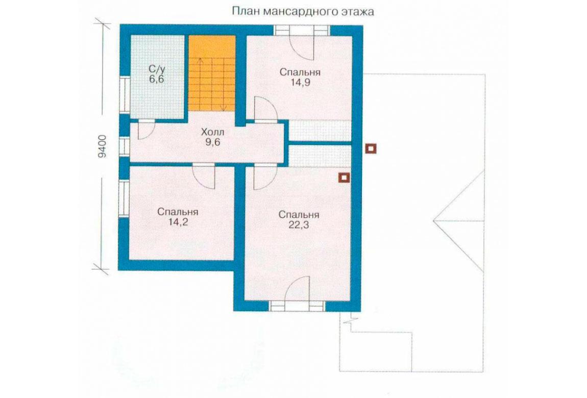 План N1 проекта дома из СИП-панелей АСД-1268