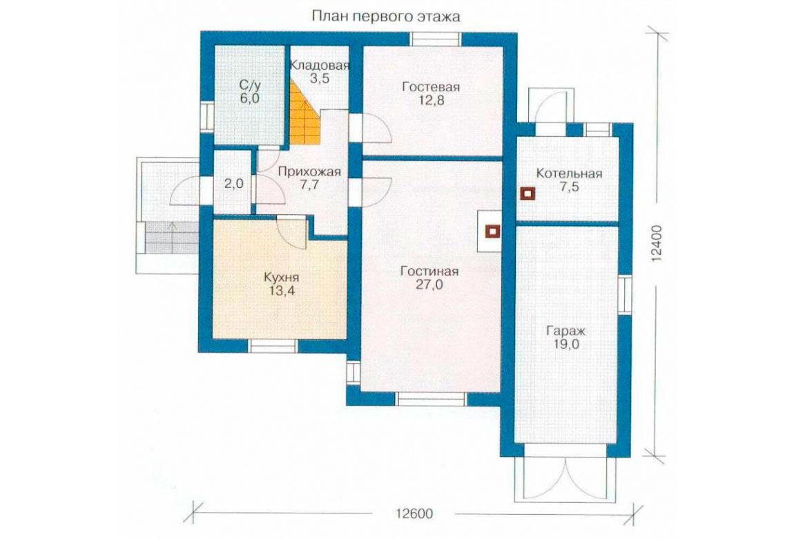 План N2 проекта дома из СИП-панелей АСД-1268
