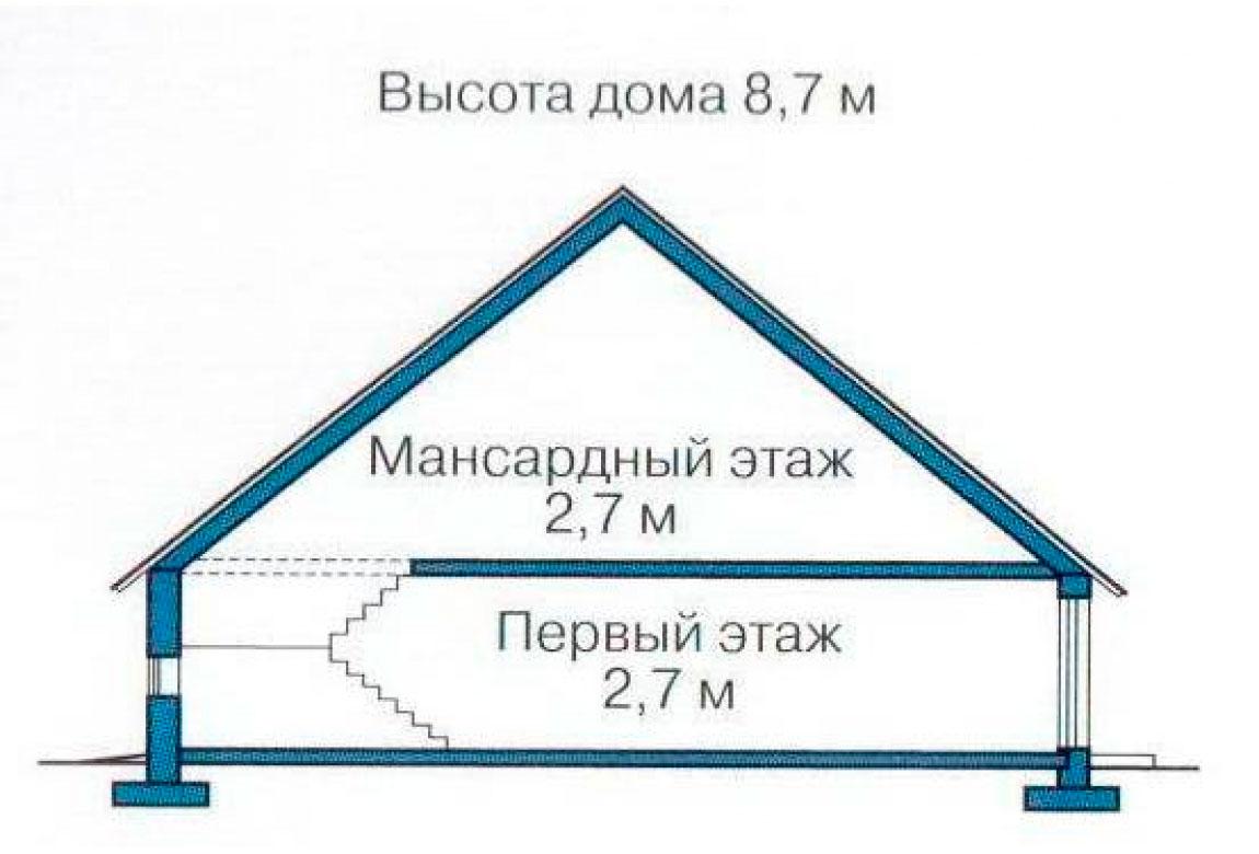 План N3 проекта дома из СИП-панелей АСД-1268