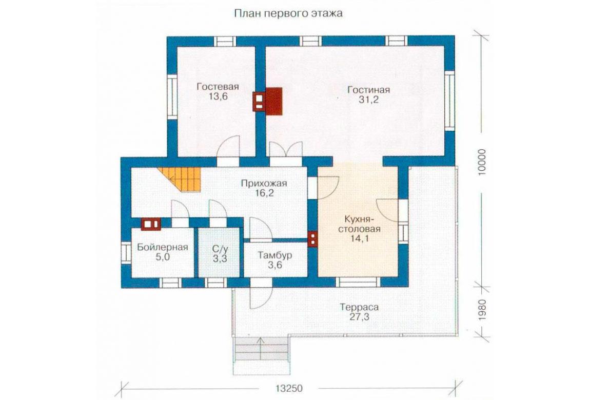 План N1 проекта дома из СИП-панелей АСД-1269