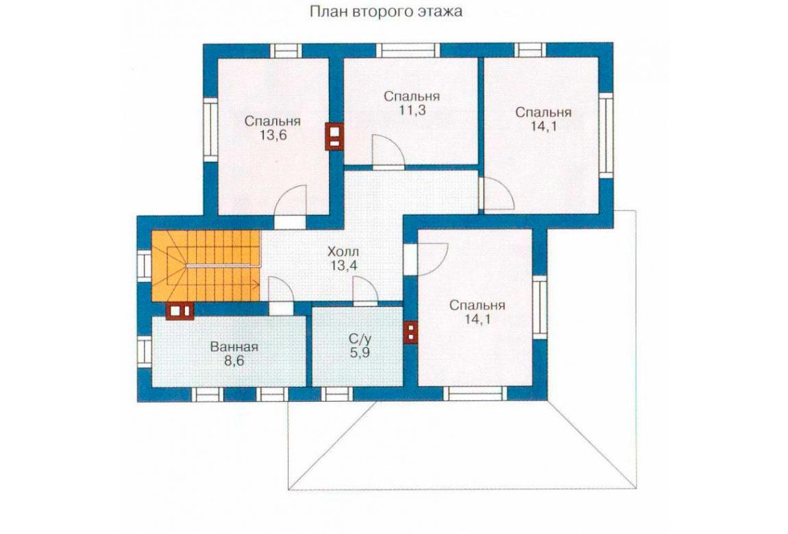 План N2 проекта дома из СИП-панелей АСД-1269