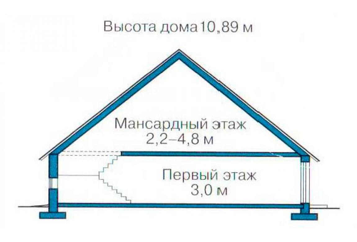 План N3 проекта кирпичного дома АСД-1027