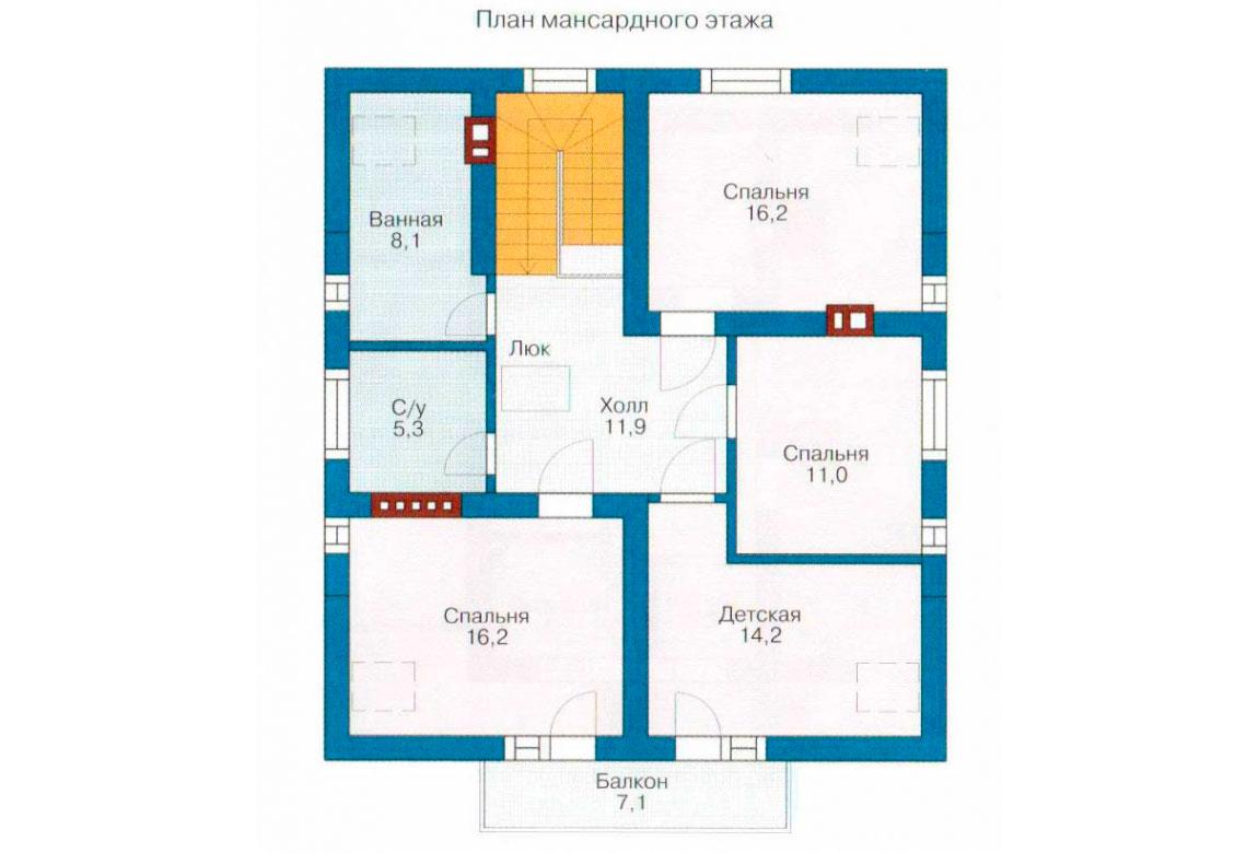 План N1 проекта дома из СИП-панелей АСД-1270